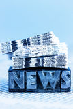 News in lead letters Royalty Free Stock Image