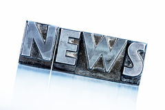 News in lead letters. The word news written with lead letters. photo icon for newsletters, newspapers and information Royalty Free Stock Photos