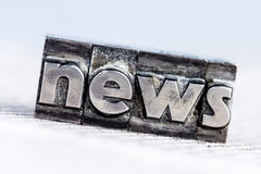 News in lead letters. The word news written with lead letters. photo icon for newsletters, newspapers and information Stock Images