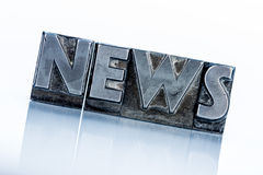 News in lead letters. The word news written with lead letters. photo icon for newsletters, newspapers and information Stock Photos