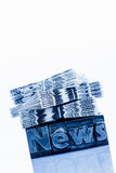 News in lead letters Stock Images