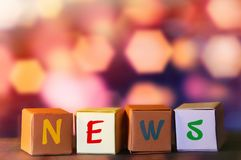 News letter cubes Stock Photography