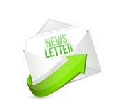 News letter mail or email illustration design Royalty Free Stock Photo