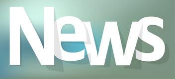 News letters banner white on a blue bokeh background. News letters banner white on a blue bokeh background vector illustration