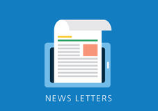 News letters concept flat icon Royalty Free Stock Photo