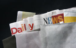 Daily news on newspapers Stock Image
