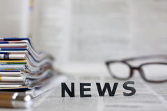 News letters on newspapers Stock Photography