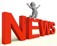 News Letters Shows Media Headlines And Information Stock Photography