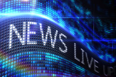 News live on digital screen Stock Images