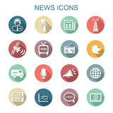 News long shadow icons Royalty Free Stock Photo