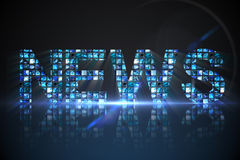 News made of digital screens in blue Stock Photography