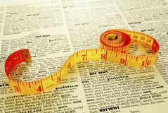 News measuring Royalty Free Stock Images
