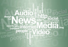 News and media � word cloud Royalty Free Stock Photography