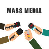 News media and broadcasting Stock Photos
