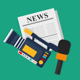 News media and broadcasting Royalty Free Stock Photo