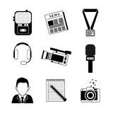 News media and broadcasting Stock Image