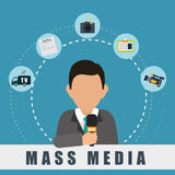 News media and broadcasting Stock Photo