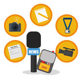 News media and broadcasting Stock Images