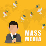 News media and broadcasting Royalty Free Stock Images