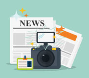 News media and broadcasting Royalty Free Stock Image