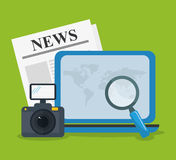 News media and broadcasting Royalty Free Stock Photography