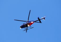 News media helicopter Royalty Free Stock Photos