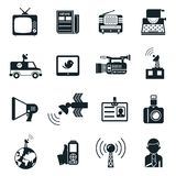 News and Media Icons Stock Photos