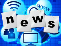 News Media Represents Multimedia Journalism And Headlines Royalty Free Stock Photos