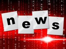 News Media Shows Radios Article And Headlines. News Media Indicating Info Tv And Headlines Stock Photos