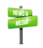 News and media sign illustration design Royalty Free Stock Photography
