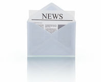 News message Stock Image