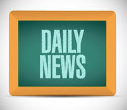 Daily news message illustration design Royalty Free Stock Photos