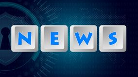 News Message 004 - Keyboard Buttons. High Resolution - Color Background vector illustration