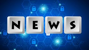 News Message 007 - Keyboard Buttons. High Resolution - Color Background stock illustration