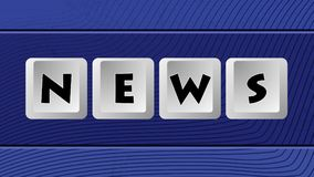 News Message 025 - Keyboard Buttons royalty free illustration