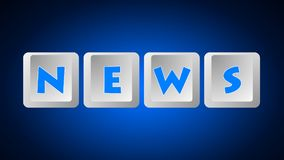 News Message 005 - Keyboard Buttons. High Resolution - Color Blue Background royalty free illustration