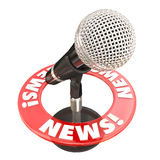 News Microphone Information Communication Sharing Urgent Update Royalty Free Stock Photo