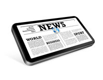 News on a mobile phone isolated on white Royalty Free Stock Photography