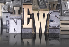 NEWS movable type Royalty Free Stock Images