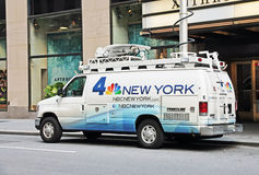 News 4 New York Van Royalty Free Stock Photo