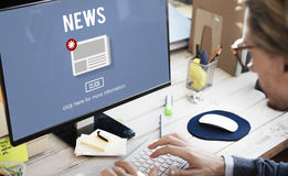 News Newsletter Announcement Update Information Concept Stock Photos