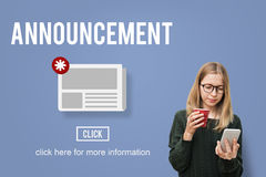News Newsletter Announcement Update Information Concept Stock Image