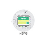 News Newsletter Application Newspaper Web Icon Stock Photos