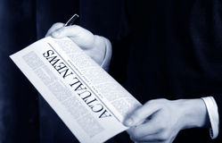 News on a newspaper royalty free stock photography