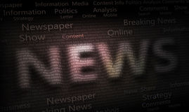 News Newspaper Background. Ilustration Abstract News dark Background Royalty Free Stock Photo