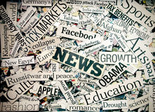 News. The News (Newspaper concept background image stock photography