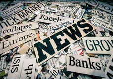 The News Newspaper concept. Banks Facebook stock photo