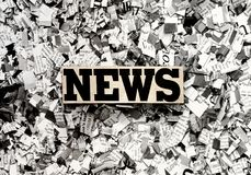 The News Newspaper concept. With newspaper confetti stock photography