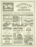 News newspaper festive Valentines Day Stock Photography
