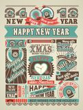 News Newspaper Happy New Year And Merry Christmas Royalty Free Stock Photo